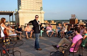 The TI Fellows Enjoy Rooftop Havdallah