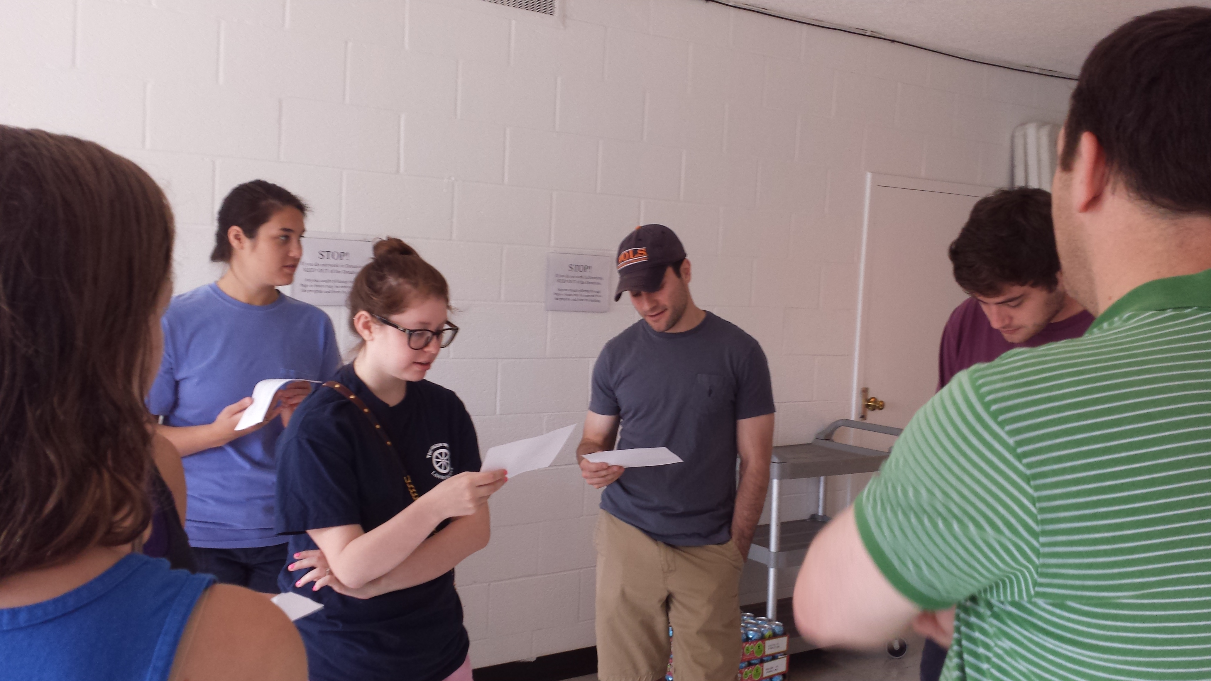 Studying some Jewish texts before volunteering at the Memphis Union Mission Soup Kitchen