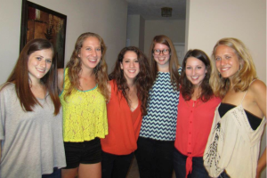 Some of the Fellows at a Fellowship Shabbat Dinner