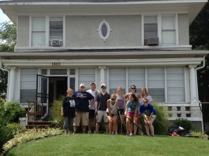 The Fellows in Front of the Dorothy Day House
