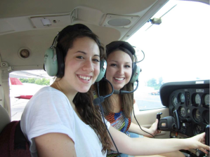 Jessie and Shayna on an Aviation Lesson