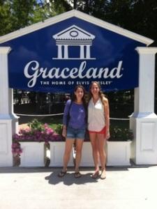 Jessie and Deborah at Graceland