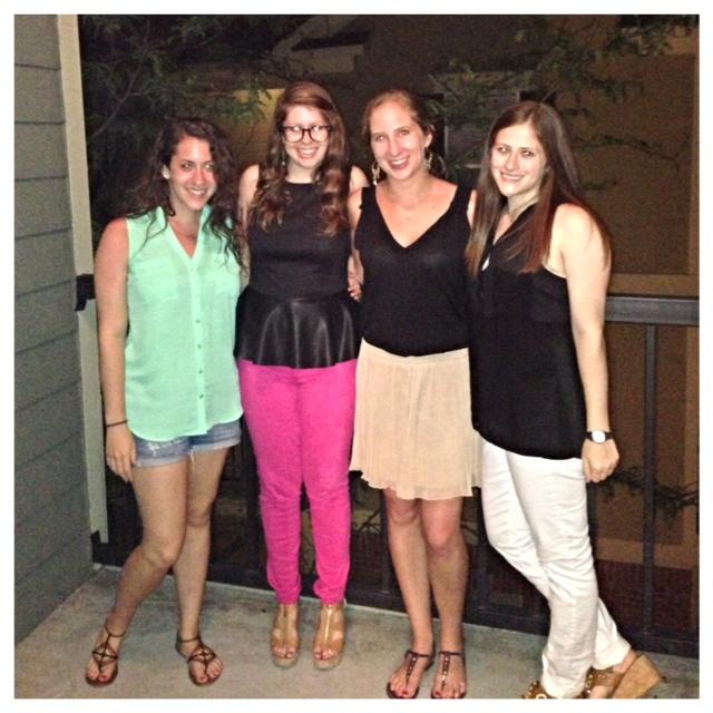 Jessie, Lauren, Deborah, and Hillary enjoying a night on the town