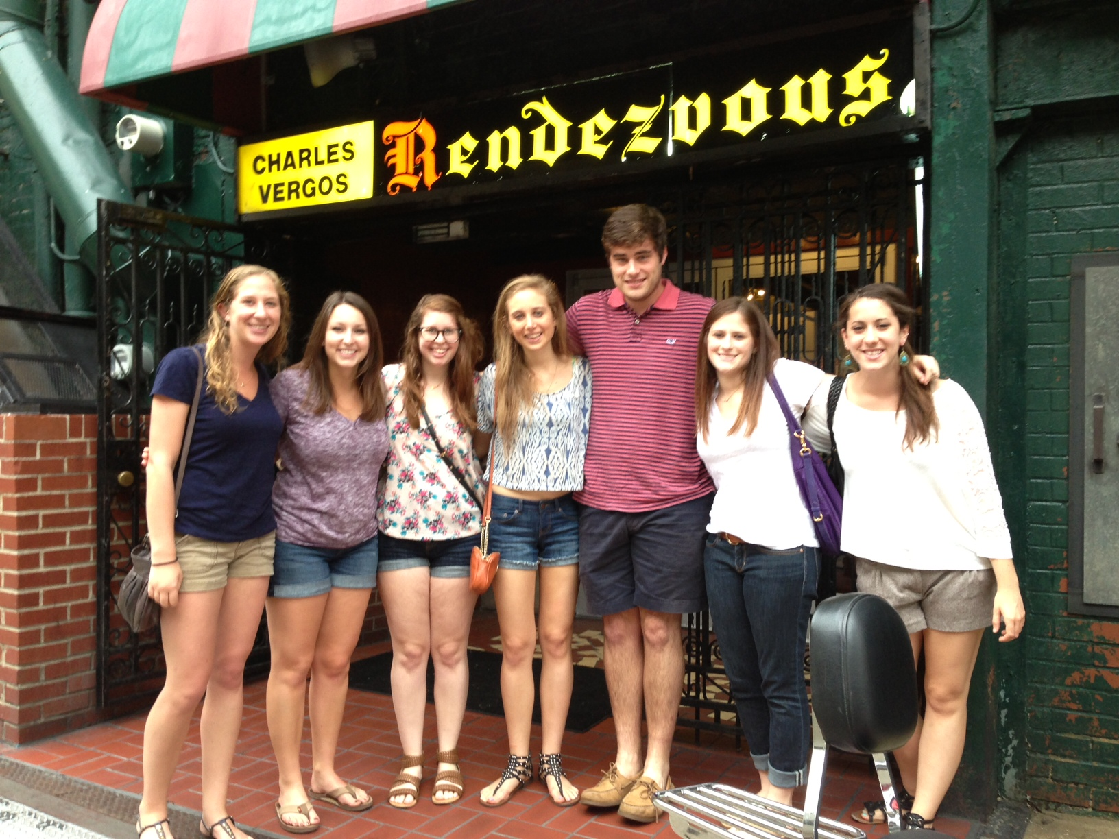 The Fellows enjoy the world famous Rendezvous bbq