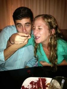 Alex and Deborah Enjoying some Cake