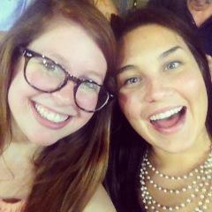Sarah and Lauren at the Redbirds Game