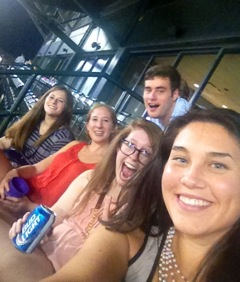 Some of the Fellows at the Redbirds Game
