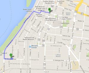 Beale Street Map