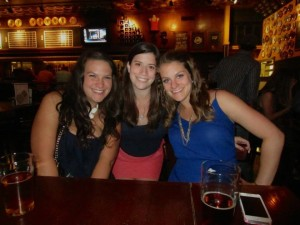 Rachel, Alyssa, and Michelle at the Flying Saucer