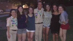 Alyssa, Michelle, Alana, Rachel, and Michele with some of the Israeli Scouts