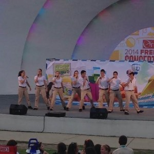 Israeli Scouts performing at the Levitt Shell