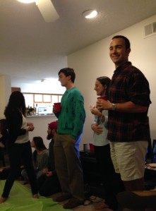 The Fellows Leading a Discussion at Shabbat Dinner